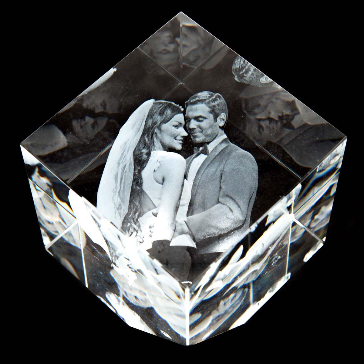 3D Laser Foto im Kelo Viamant Glas by Digitale Fotografien