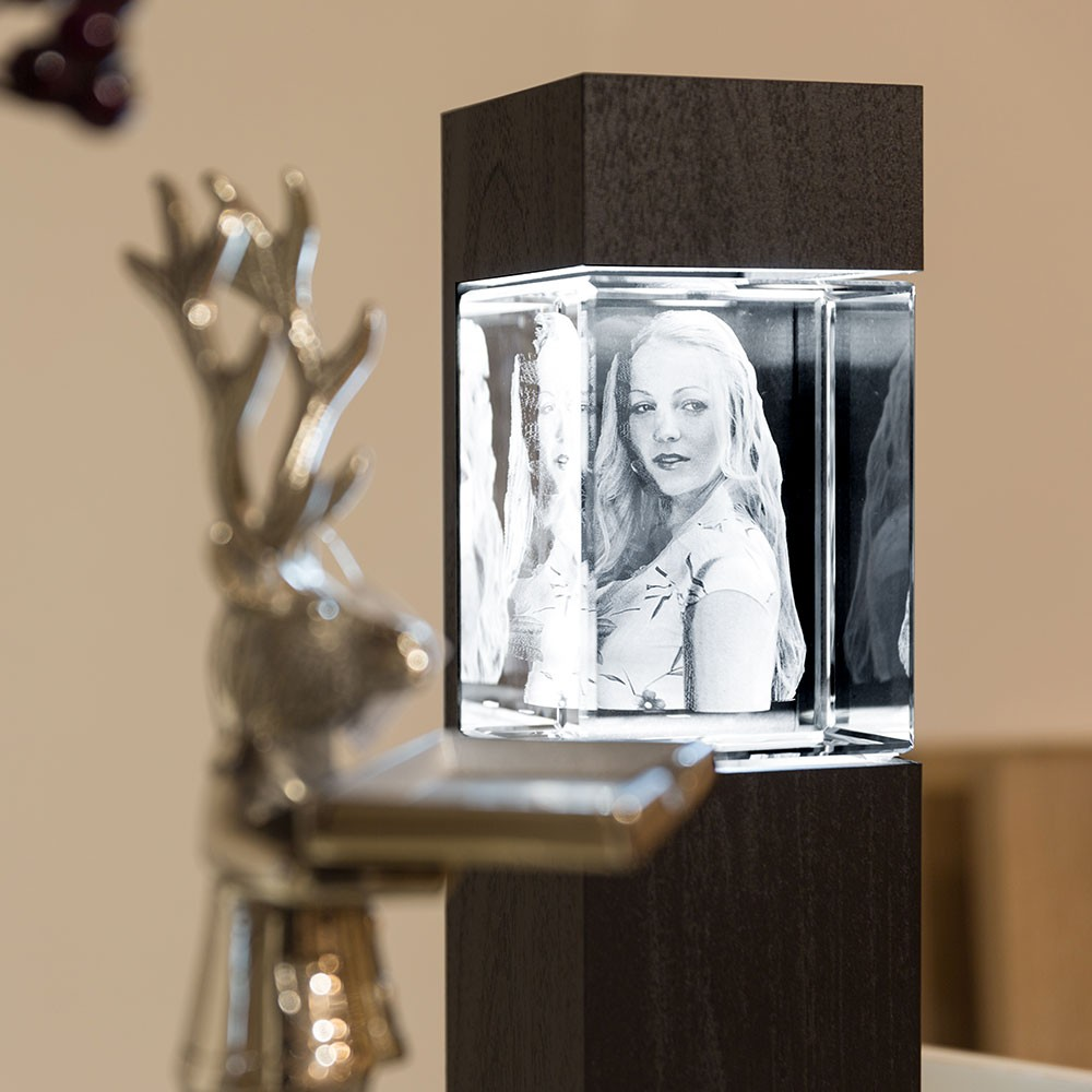 Leuchtstele für 3D Laser Viamantglas Mega Hochformat by Digitale Fotografien